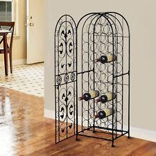 HOMCOM Wine Holder Rack Metal Wine Storage Organizer for 45 Bottle (Black)