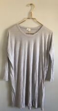 Wilfred Free Aritzia Micromodal 3/4 Sleeve Light Blue Gray Long Knit Top Size 0