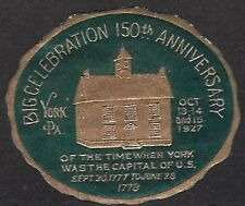 USA Poster stamp: 150th Anniversary of York, PA - Oct. 13-15, 1927 -  dw857