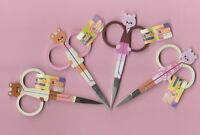 "Embroidery Scissors 95mm/ 3 3/4 "" Snips Teddy Bear Rilakuma CHOOSE of 4 designs"