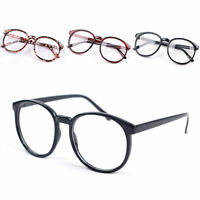 New Women Men Retro Round Frame Vintage Eyeglasses Glasses Cute Fashion Unisex