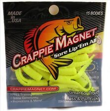 Crappie Magnet 15 Piece Body Pack Chartreuse