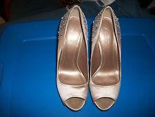 Ladies Platform Tan with Glitter on Heel Shoe by Aldo