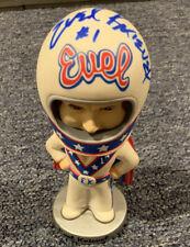 Evel Knievel Autographed Signed (rare) Bobble head Land Of Legends Coa Card