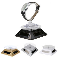 Exquisite Solar Showcase 360 Turntable Rotating Jewelry Watch Ring Display Stand