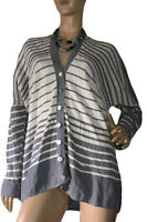 🌻 RIDLEY SIZE L LINEN BLEND STRIPE KNITTED CARDIGAN