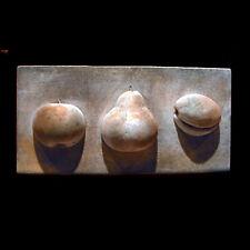 Three Fruits plaque wall sculpture