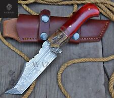 DAMASCUS HAND MADE HUNTING KNIFE | TANTO BLADE | GIFT FOR HIM | CHRISTMAS WK-33