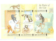 Mint Never Hinged/MNH Cats Alderney Regional Stamp Issues