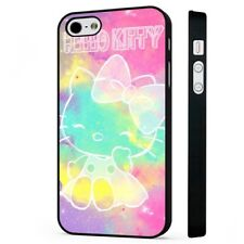 Hello Kitty Colourful Star Sky BLACK PHONE CASE COVER fits iPHONE