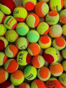 15 or 30 Used Tennis Balls. Low Pressure. Kids Games / Small Dogs / Puppy