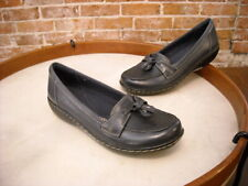 Clarks Navy Blue Leather Ashland Bubble Comfort Loafer New