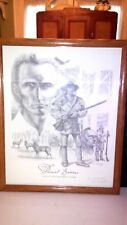 DANIEL BOONE 1988 PENCIL PRINT BY RON BEIGHTS 690 OF 1150