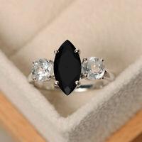 3.00 Ct Marquise Cut Diamond Three-Stone Engagement Ring 10K White Gold Finish