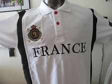 France World Soccer Cup  cotton blend white Polo Shirt S
