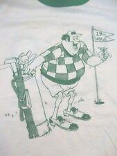 Vintage Cartoon Comic Golf 1982 80s 19th Hole Punk Rock Ringer T Shirt S