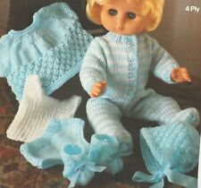 Baby Dolls Clothes Vintage Knitting Pattern  Vest Pants Top All In One M1855