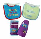 Baby boy gift lot Razz washcloths tear free rinse cup bibs newborn baby shower