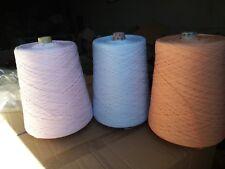 fil à tricoter lot 3 ruban plat Rose-bleu-orange 3Kg