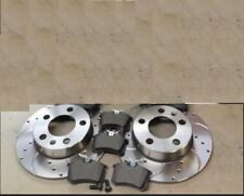 SEAT IBIZA LEON 1.8 CUPRA 20V REAR PERFORMANCE DRILLED GROOVED BRAKE DISCS PADS