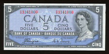 1954 Bank of Canada $5 - Devil's Face Note S/N: C/C3341000