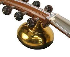 """CLASSIC REAL BRASS RESONATOR """"TUMBA"""" FOR INDIAN SAROD w ALL FITTINGS, POLISHED"""
