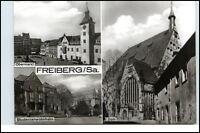 FREIBERG Sachsen DDR Mehrbild-AK ua. Obermarkt, Studenten Wohnheim und Dom