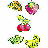 Wallies Wallpaper Cutouts Happy Fruit