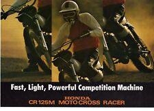 1975  HONDA CR125M1 2 page Motorcycle Brochure  NOS