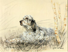 ENGLISH SETTER GUNDOG DOG FINE ART LIMITED EDITION PRINT