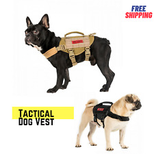 OneTigris Tactical Dog Harness Molle Nylon Vest with Handle for Small XS Dogs