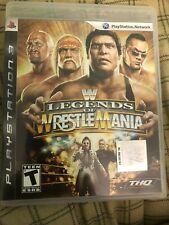 WWE LEGENDS OF WRESTLEMANIA SONY PLAY STATION 3 COMPLETE