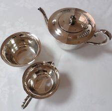 VINTAGE EPNS silver plated servizio da tè teiera zuccheriera bricco latte &