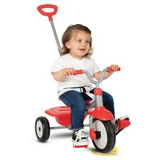 smarTrike Folding Fun, 2-in-1 Toddler Tricycle 15M+, Red