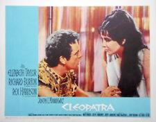 CLEOPATRA Elizabeth Taylor Richard Burton Lobby Card #2 Power Couple (blue set)