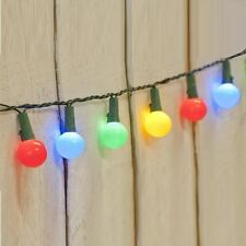 MULTI COLOUR 50 LED BERRY CHRISTMAS WEDDING GARDEN PARTY STRING GLOBE LIGHTS