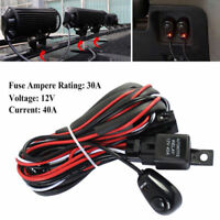 LED Car Fog Spot Switch Relay Bar Wiring Harness Kit W/Driving Light Bar 12V 40A