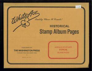 Blanc As Animal Topique Historique Tampon Album Vierge Page Supplément Paquet De