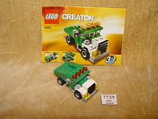 Set LEGO: creatore: modello di base: il traffico: 5865-1 Mini con cassone ribaltabile (2010) 100% con INST