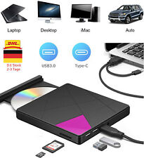USB 3.0 Externes CD DVD Super Laufwerk Slim RW Brenner SD Karte mit TypeC for PC