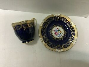Crown Staffordshire  Butter Plate And Cup England,  Pretty pattern