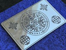 Wallet card Enochian Angel Magic amulet, Alpha and Omega, AGLA, Tetragrammaton