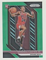 2018-19 Panini Prizm GREEN REFRACTOR PRIZM #80 WENDELL CARTER JR RC Rookie Bulls