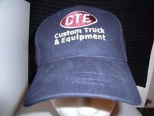 Baseball Cap CTE CUSTOM TRUCK EQUIPMENT Trucker Hat Unique RETRO Rare