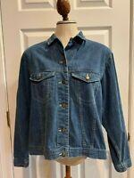 Gap Womens Vintage Blue Denim Jean Jacket Size Small S Button Up 100% Cotton EUC