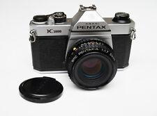 Asahi Pentax K1000 35mm SLR Film Camera CLAed w/ new seals SMC-A 50mm f/1.7 lens