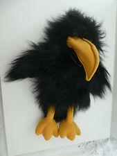 "THE PUPPET CO 16""  LARGE BLACK CROW BIRD HAND GLOVE PUPPET   VGC SQUEAKS"