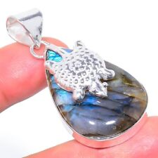 "Labradorite Gemstone Handmade Ethnic Fashion Jewelry Pendant 1.97"" SP-1784"