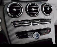 Mercedes-Benz OEM Genuine W205 C-Class AMG Silver Glass Fiber Dashboard Trim New