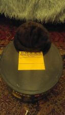 Vintage Dobbs Fifth Avenue New York Hat Box and Saks Fifth Avenue Mink Hat